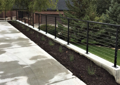 Metal Wire Deck Railing