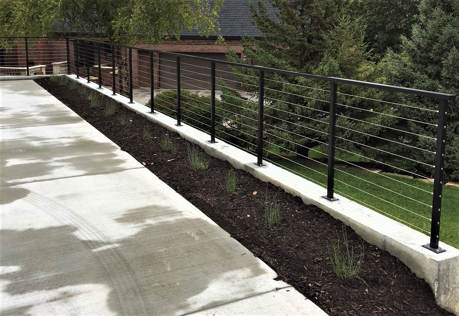 Comfortable Wire Cable Deck Railing Ideas Electrical