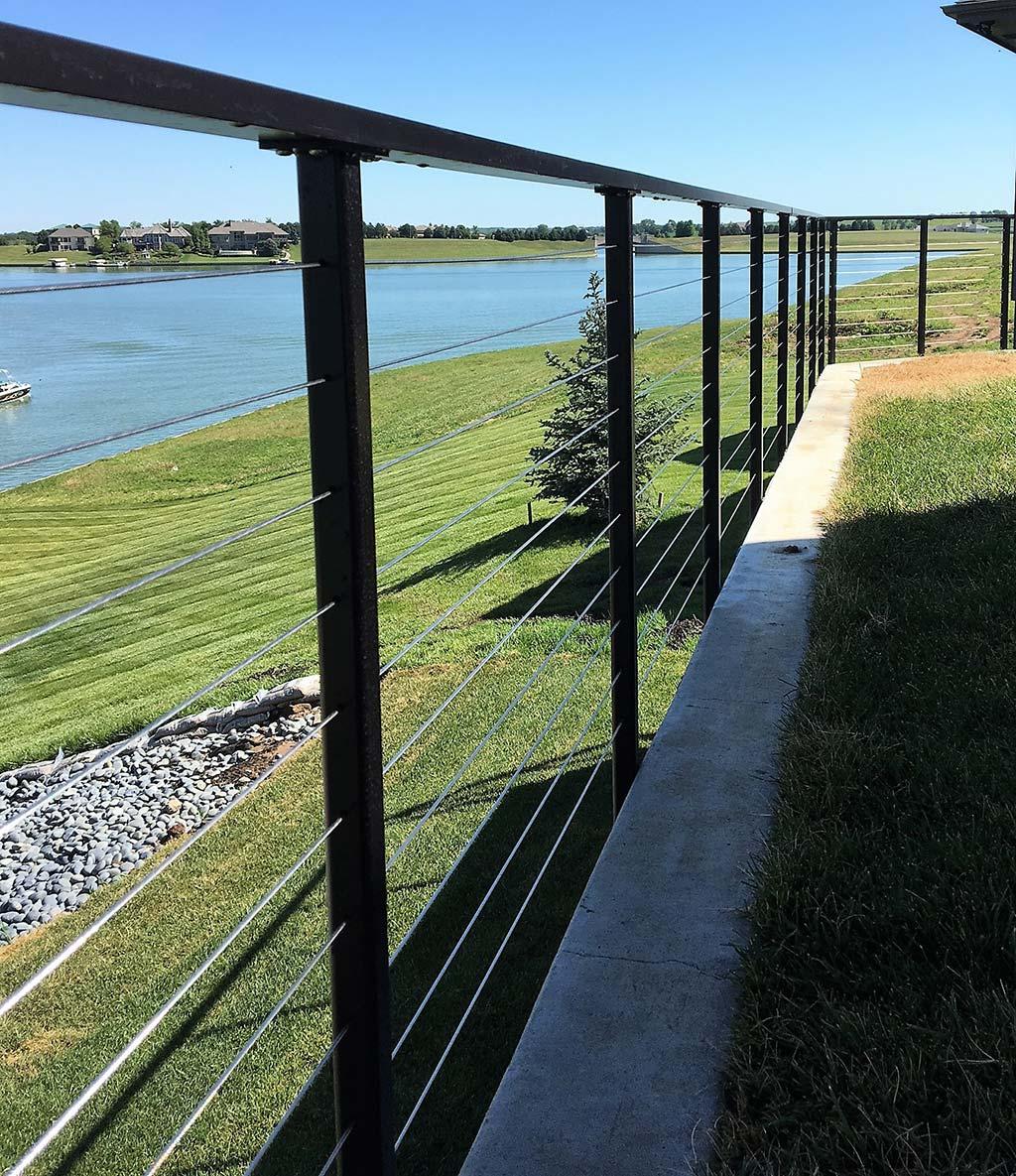 Modern Deck Railings   Stainless Steel Cable Deck Railings
